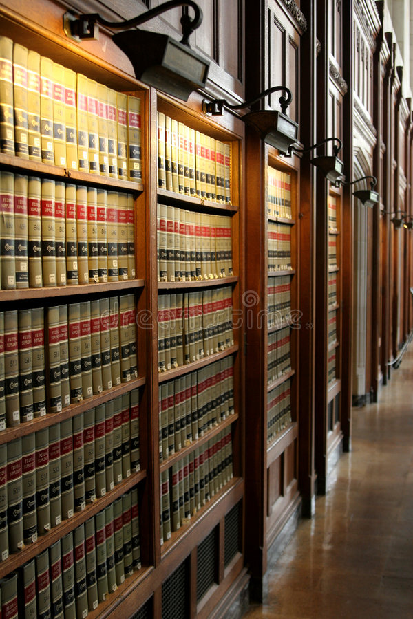 Bibliothèque de loi photo stock