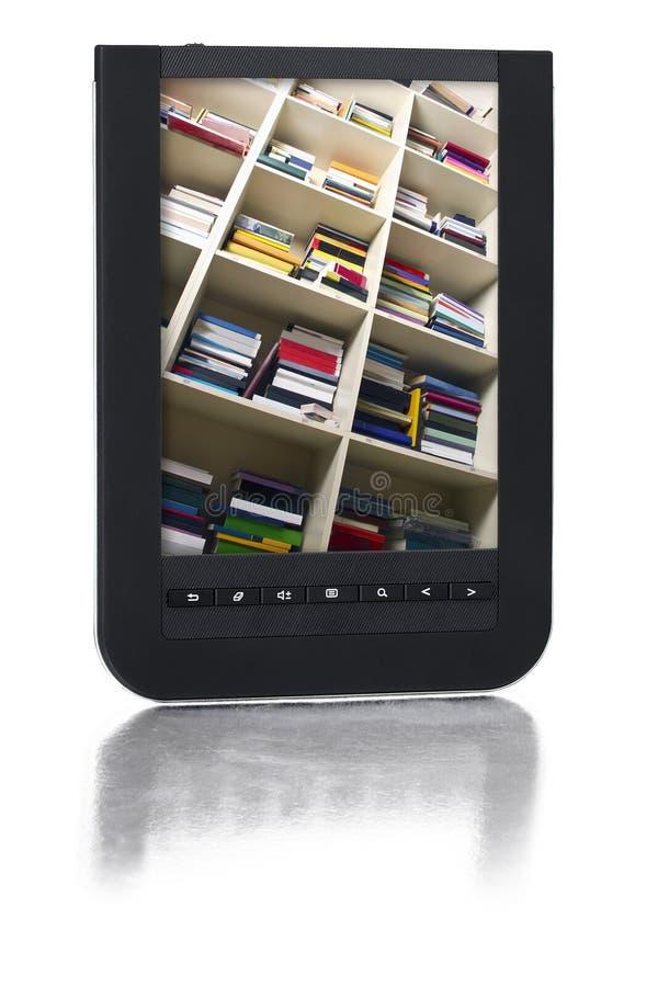 bibliothèque digitale d'E-livre images stock