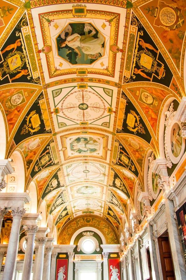 Bibliothèque du Congrès, Etats-Unis images libres de droits