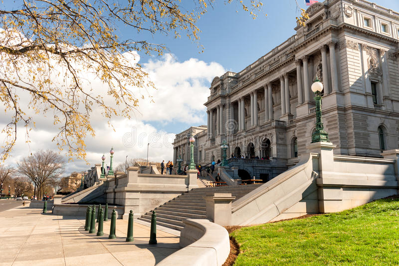Bibliothèque du Congrès le bâtiment de Thomas Jefferson dans le Washington DC image stock