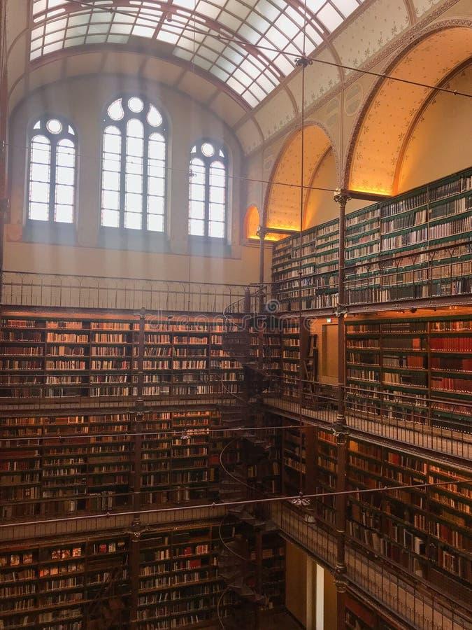 Bibliothèque du musée images libres de droits
