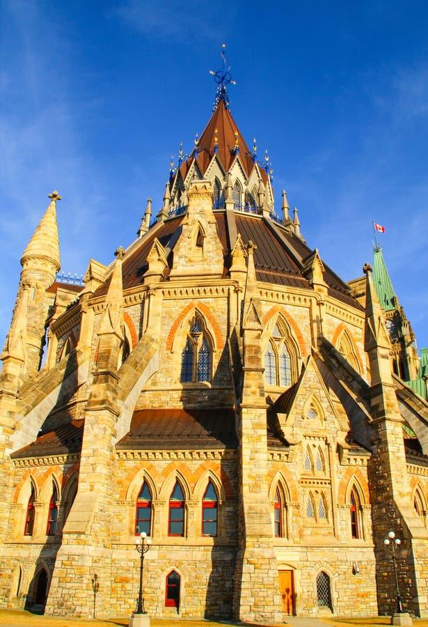 Bibliothèque du Parlement canadien à Ottawa, Canada photographie stock