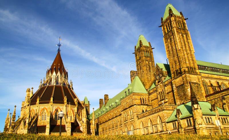 Bibliothèque du Parlement canadien à Ottawa, Canada image stock