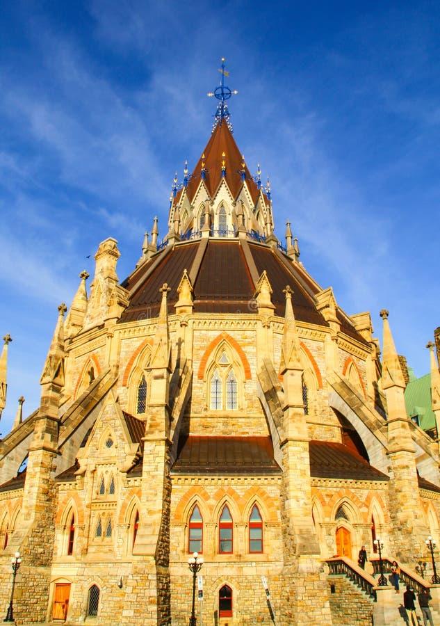 Bibliothèque du Parlement canadien à Ottawa, Canada photo libre de droits
