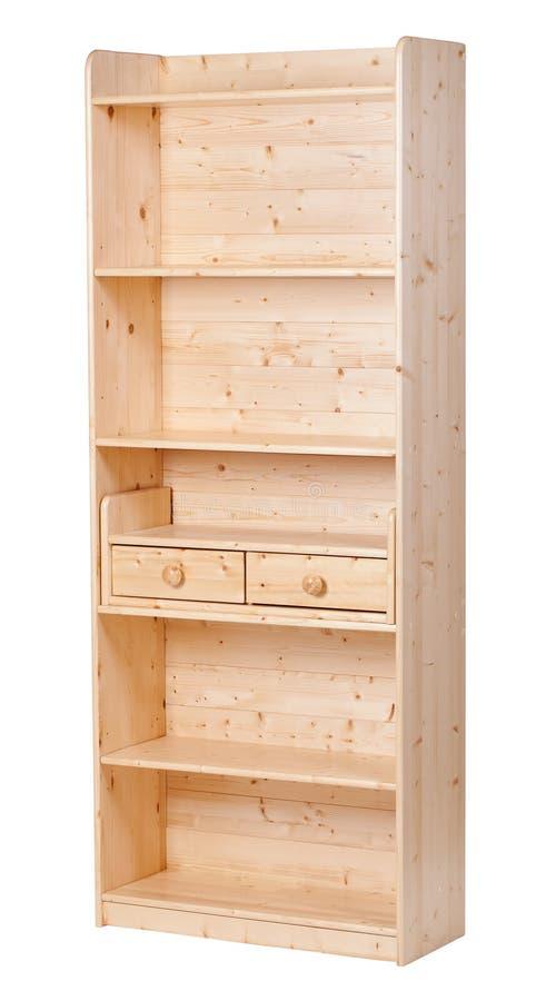 Bibliothèque en bois vide, avec le découpage photographie stock
