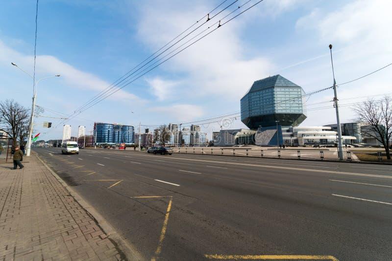 Bibliothèque nationale de la république de Bielorussie photographie stock