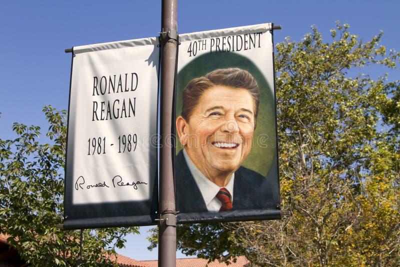 Bibliothèque présidentielle de Ronald Reagan images stock
