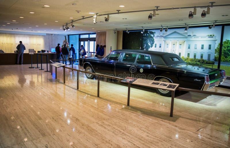 Bibliothèque présidentielle présidentielle de la limousine LBJ photos libres de droits
