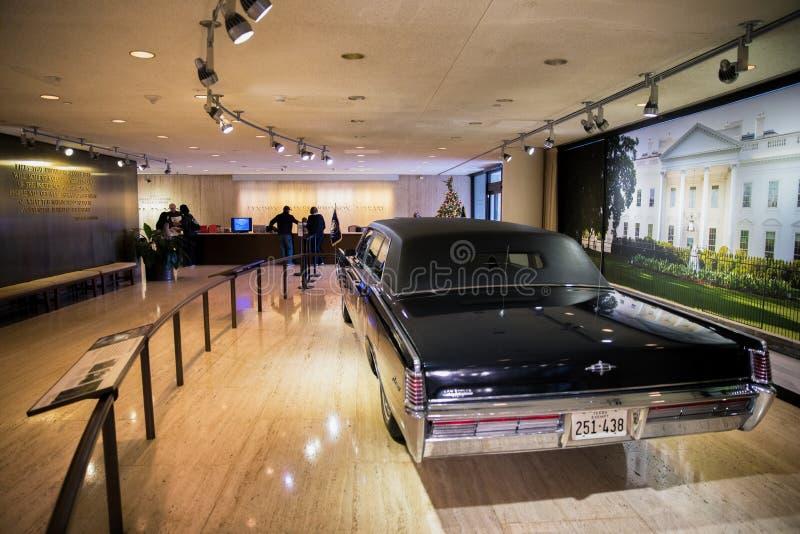 Bibliothèque présidentielle présidentielle de la limousine LBJ photographie stock libre de droits