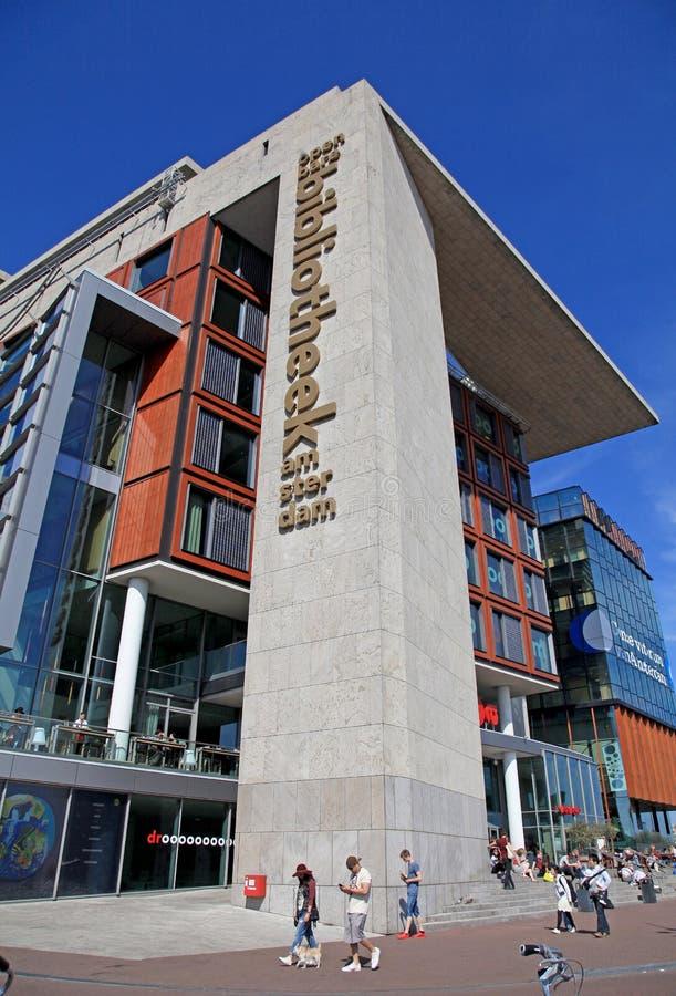 Bibliothèque publique d'Amsterdam photographie stock libre de droits
