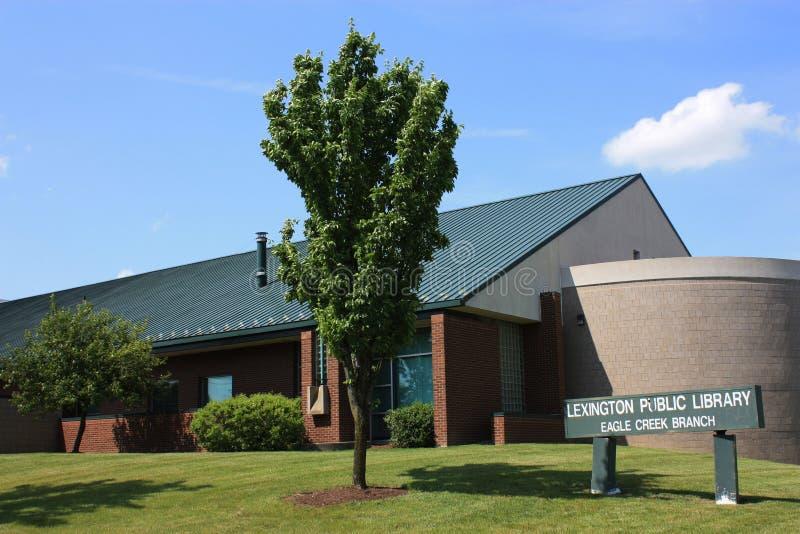 Bibliothèque publique de Lexington, branchement de crique d'aigle images libres de droits