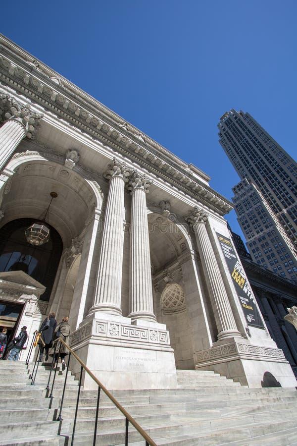 Bibliothèque publique de New York, branche de Manhattan photographie stock