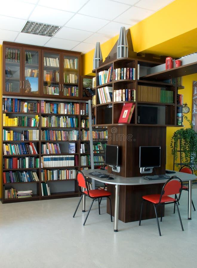 Bibliothèque publique moderne photographie stock