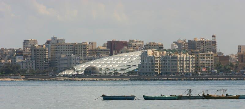 Bibliotheek van Alexandrië stock fotografie