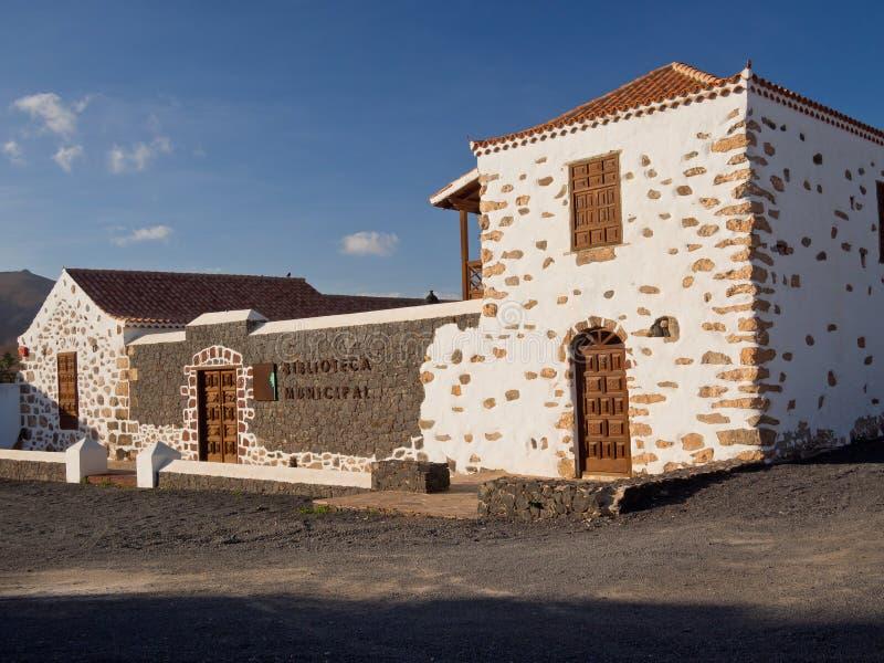 Bibliotheek in Antigua, Fuerteventura, Canarische Eilanden stock afbeelding