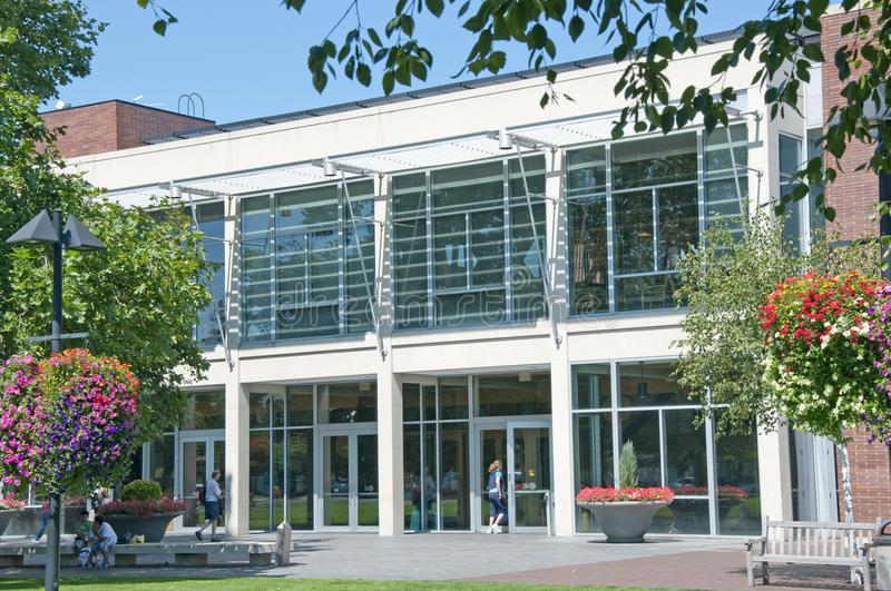 Bibliotheek in Beaverton, Oregon stock afbeelding