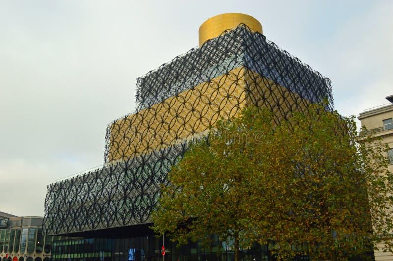 Bibliotheek van Birmingham en boom royalty-vrije stock afbeelding