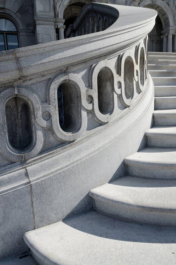 Bibliotheek van de tredendetail van het Congres royalty-vrije stock afbeelding