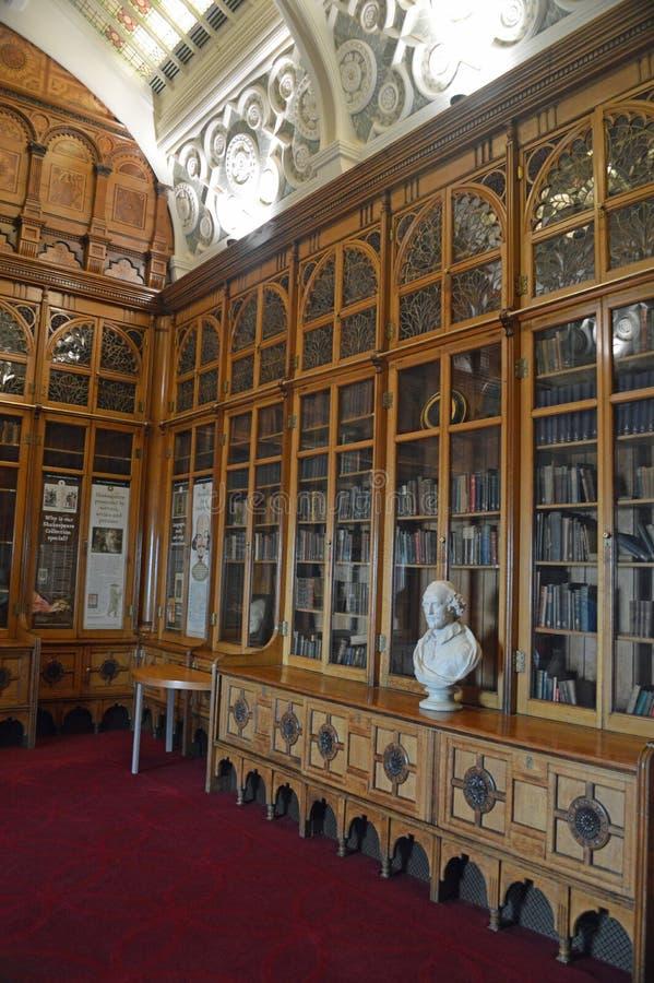 Bibliotheek van de Zaal van Birmingham Shakespeare stock afbeelding