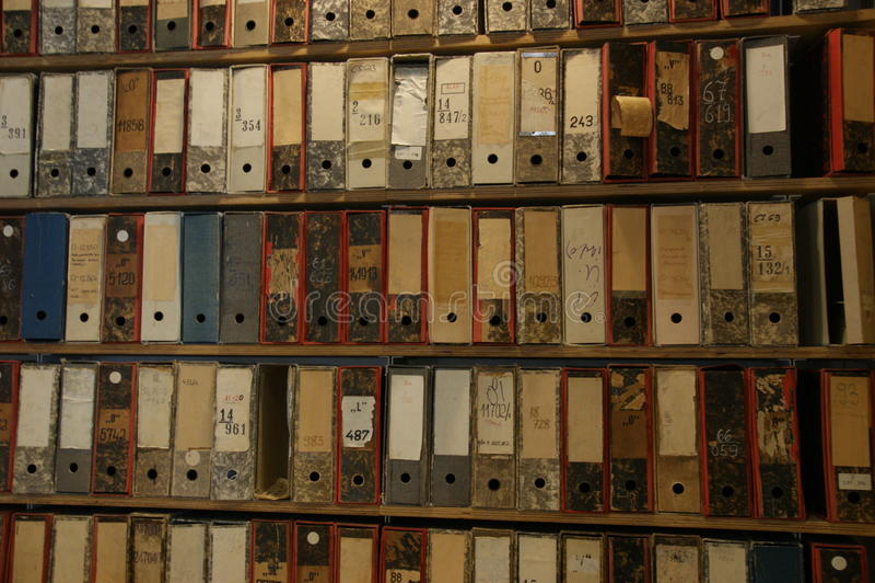 Bibliotheekarchieven royalty-vrije stock fotografie