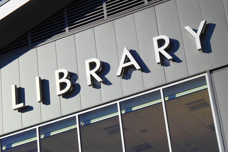 Bibliotheekteken stock afbeelding