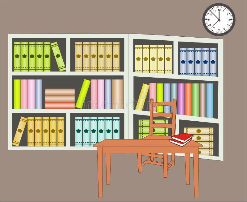 Bibliothek vektor abbildung