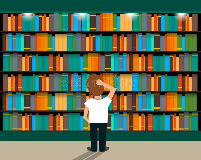 bibliothek stock abbildung