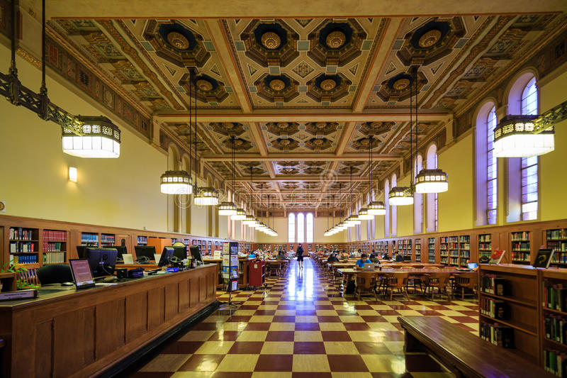 Bibliothek der Universität von Süd-Kalifornien lizenzfreies stockfoto