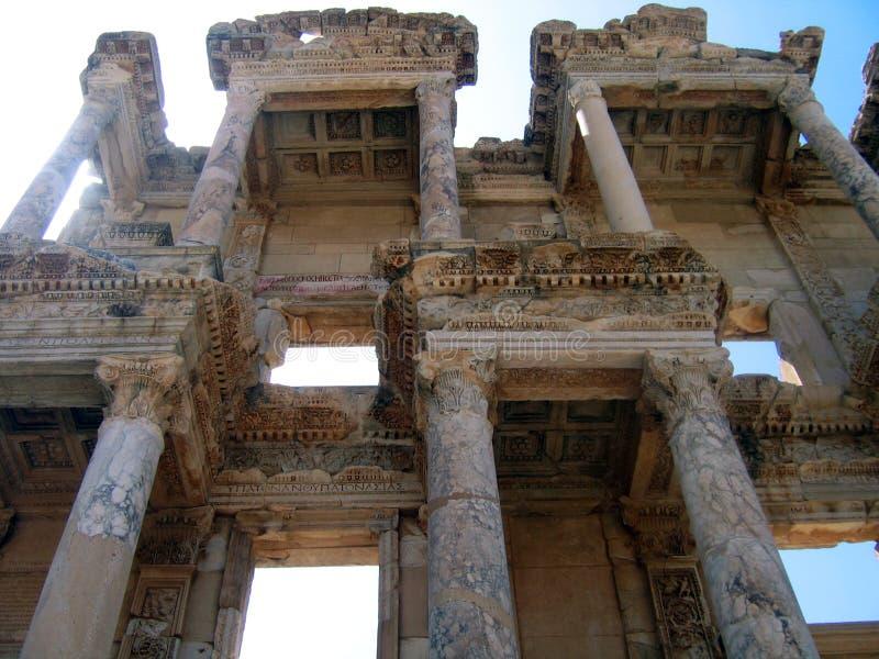 Bibliothek von Celsus in Ephesus lizenzfreies stockfoto