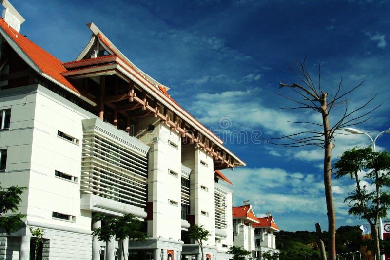 Bibliothek am Zhangzhou Campus, Xiamen-Universität stockbild