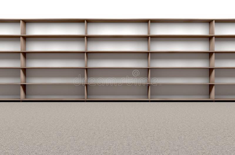 Bibliotheks-Bücherregal leer lizenzfreies stockfoto