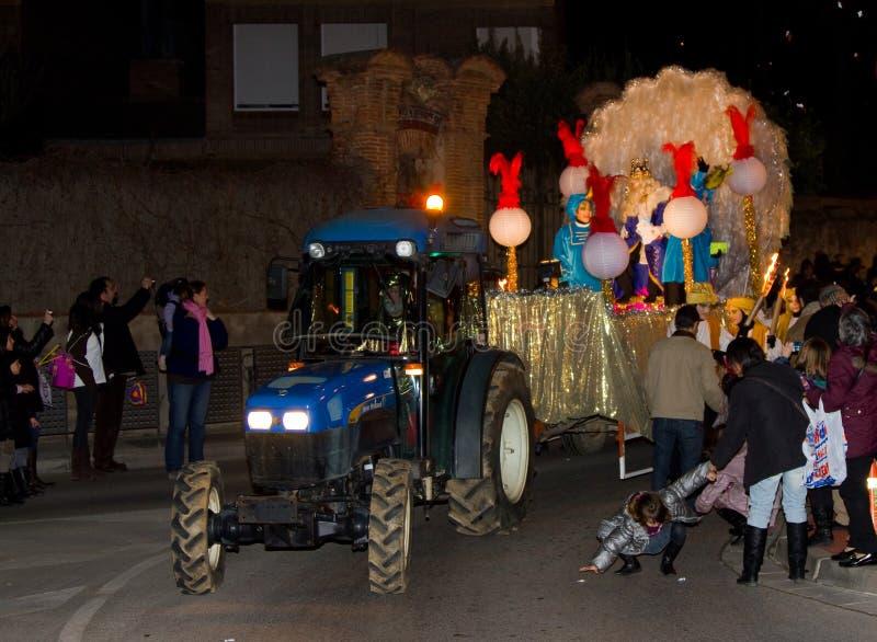 Biblischer Weise-König Parade stockfoto