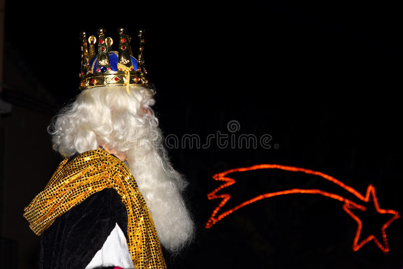 Biblischer Weiseweißkönig stockfotografie