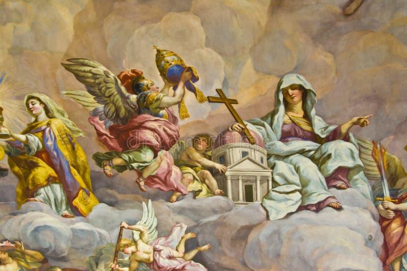 Biblisk freskomålning royaltyfria bilder