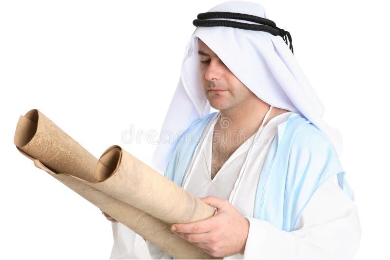 biblisk manavläsningsscroll royaltyfria foton