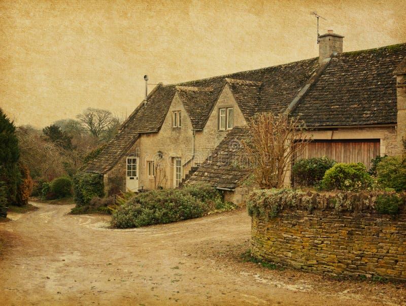 Bibury Gloucestershire arkivbild