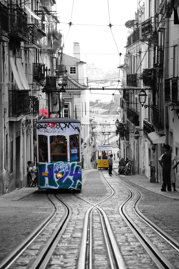 Lisbon Streetcars - Public Transportation royalty free stock photos