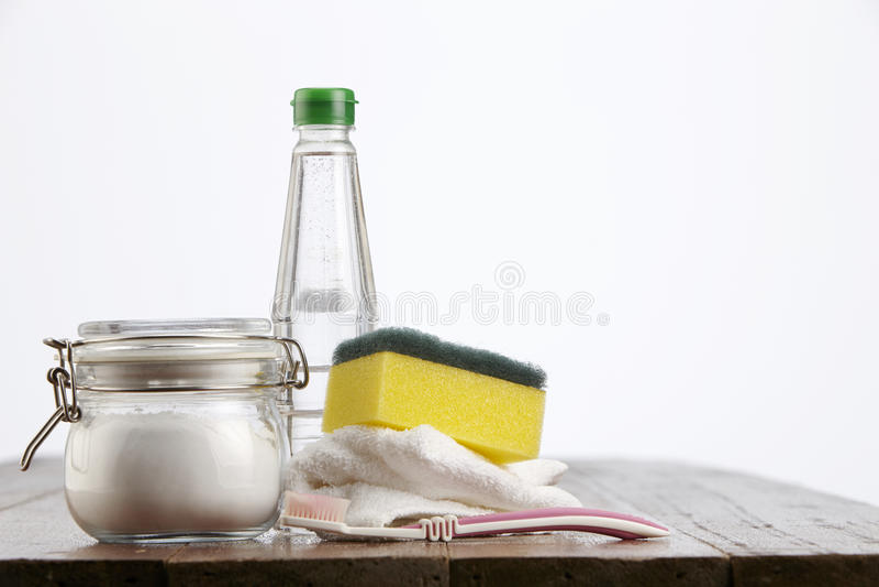 Bicarbonato di sodio fotografie stock