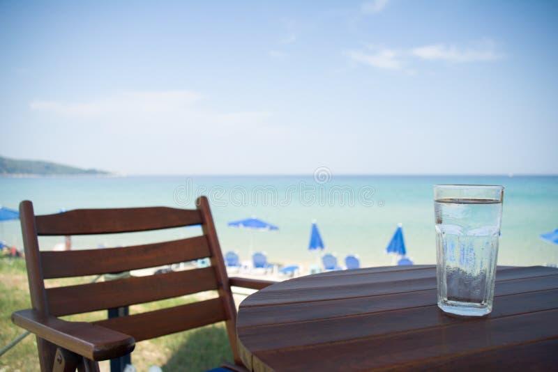 Bicchiere d'acqua fotografia stock