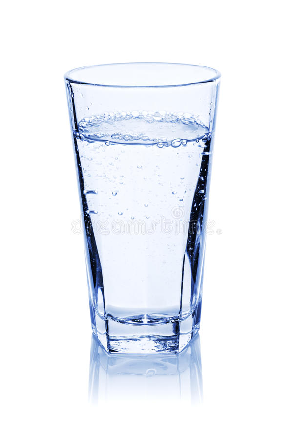 Bicchiere d'acqua immagine stock