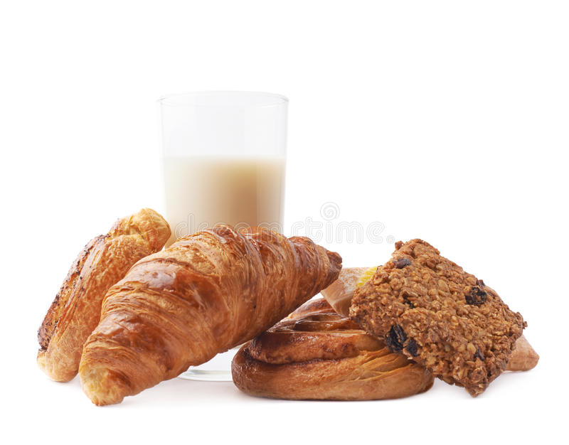 Download Bicchiere Di Latte E Pasticceria Immagine Stock - Immagine di closeup, cotto: 55350017