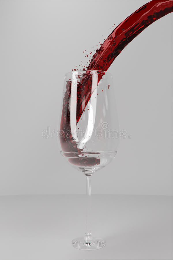 Bicchiere di vino fotografia stock