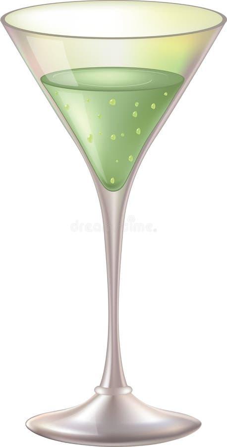 Bicchiere di vino con liquore illustrazione di stock