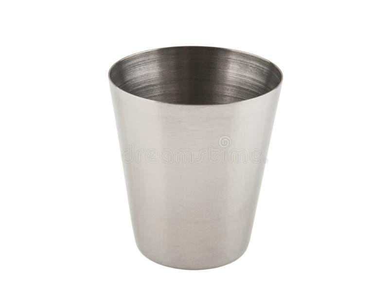 Bicchiere di vino del metallo isolato su bianco immagine stock