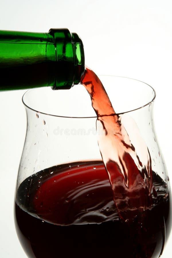 Bicchiere di vino di buon vino francese fotografia stock libera da diritti