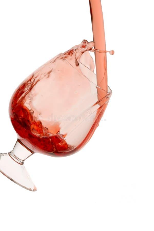 Bicchiere di vino di vino rosso fotografie stock libere da diritti