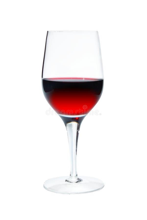 Bicchiere di vino su priorità bassa bianca immagini stock libere da diritti