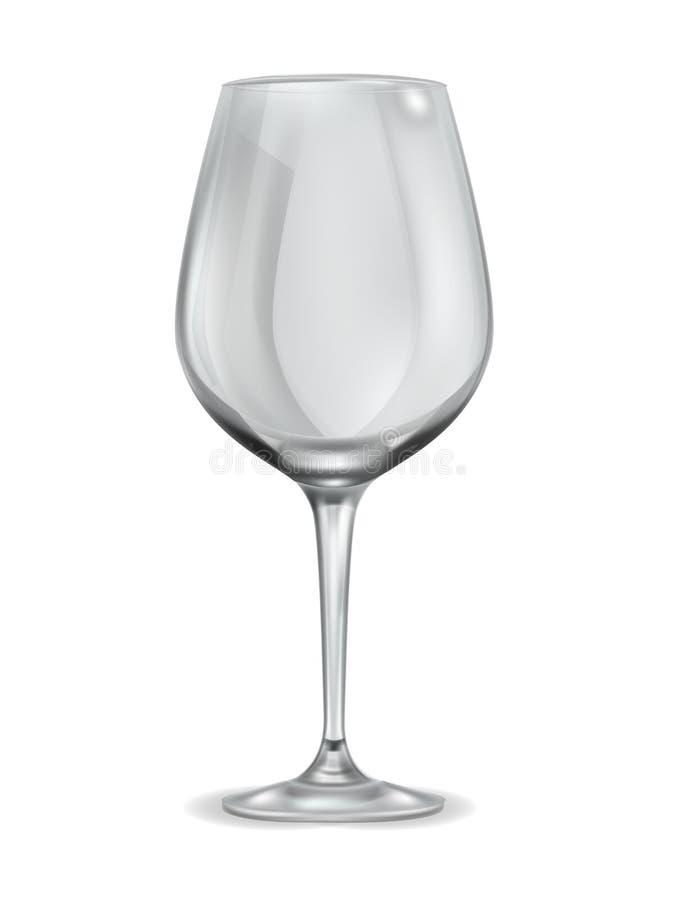 Bicchiere di vino vuoto articoli beventi puliti della cucina di cristallo per il vettore del champagne dell'alcool del liquore de illustrazione vettoriale
