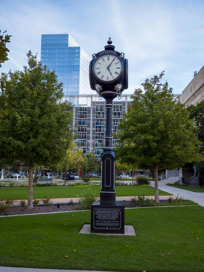 Bicentennial Park in Oklahoma City - downtown district - OKLAHOMA CITY - OKLAHOMA - OCTOBER 18, 2017 royalty free stock photography
