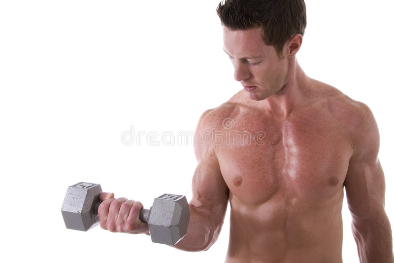 Bicep curl. royalty free stock photo